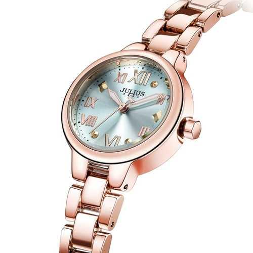 JULIUS 919 Simple Alloy Case Fashion Girls Students Quartz Wrist Watch