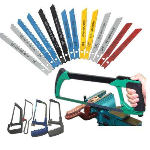 14Pcs U Fitting Shank Jigsaw Blades Set Metal Plastic Wood Blades For Black and Decker