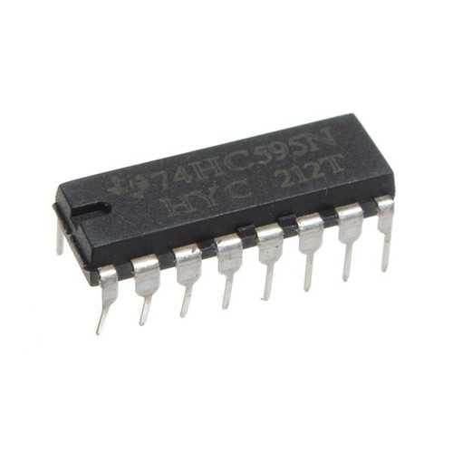125pcs SN74HC595N 74HC595 74HC595N HC595 DIP-16 8 Bit Shift Register IC