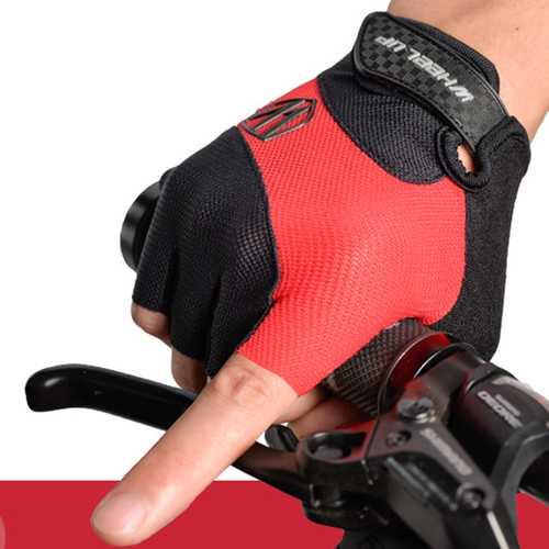 Men Half Finger Bike Riding Gloves Summer Breathable Non-Slip Sports Gloves