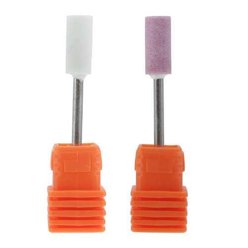 1pc Nail Drill Bits Electric Machine Grinding Head Polish Pink Ceramics Manicure Pedicure Tool