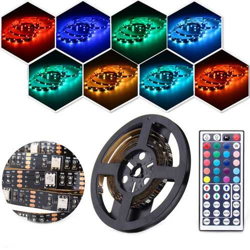 2PCS 50CM 100CM 5050 USB Powered RGB Color Change LED Strip Computer TV PC Backlight Kit DC5V
