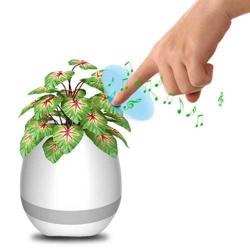 Honana FGP1 USB bluetooth Music Flower Pot Electrostatic Induction Night Light Flower Pot