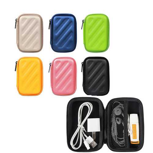 PU Box Storage Package Case Rectangle Shape for Finger Spinner Data Cable Charger Earphone