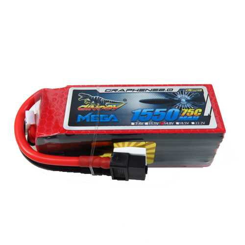 Giant Power DINOGY MEGA GRAPHENE 2.0 1550mAh 14.8V 75C Lipo Battery