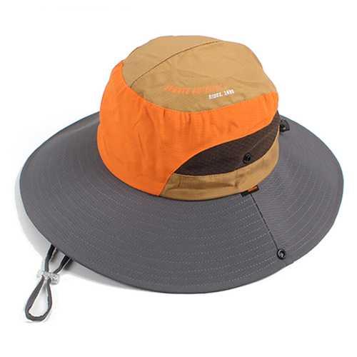 Men Women Summer Breathable Fisherman Cap Foldable Wide Brim Sunscreen Bucket Hat