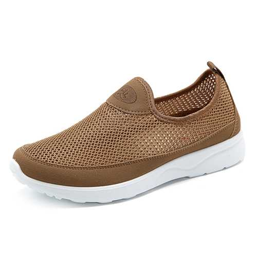 Men Breathable Hollow Out Soft Sole Flats