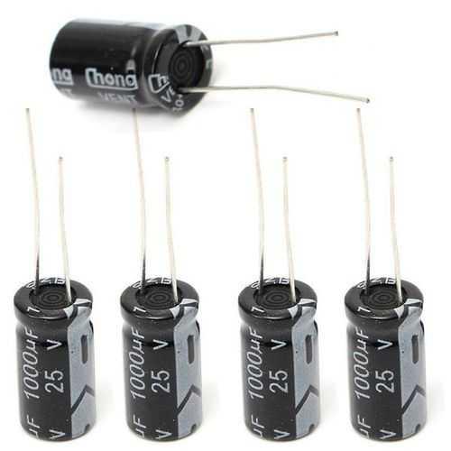 60pcs 1000uF 25V Radial Electrolytic Capacitor 10 x 17mm 105°C