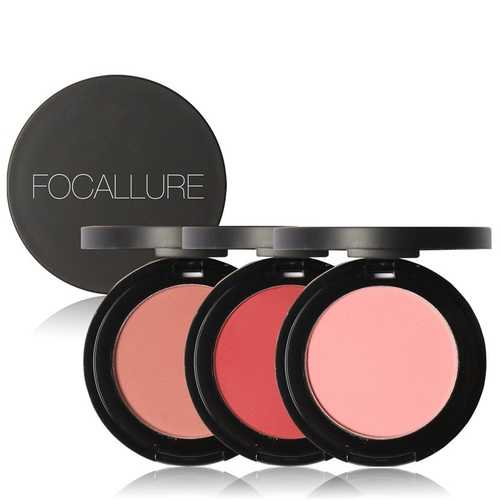 FOCALLURE Cheek Blusher Powder Blush Beauty Makeup Soft Nature Rouge Glossy Face Blush