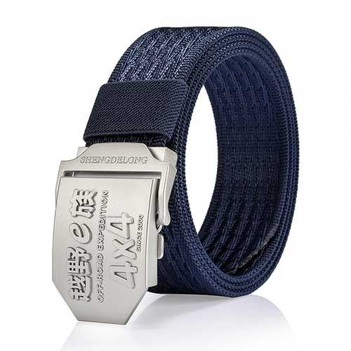 125CM Men Casual Nylon Alloy Buckle Belt Outdoor Sport Army Tactical Jeans Strap