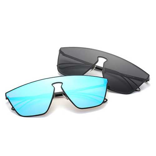 Men Unisex Vintage Metal Large Frame Sun Glassess Summer Outdooors Uv Protection Glasses