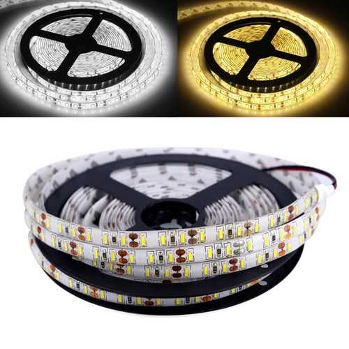 5M 120W 4014 SMD Waterproof 600LEDs Ribbon Strip Tape Light for Outdoor Decor DC12V