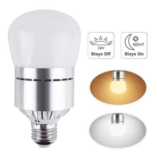 ARILUX® E27 12W Dusk to Dawn Automatic on&off LED Sensor Light Bulb for Yard Porch Patio AC85-265V
