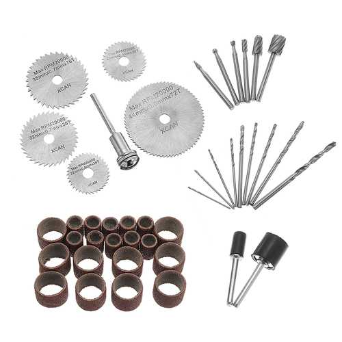 HILDA 43Pcs Rotary Tool Accessories Set Electric Drill Tool for Drilling Grinding Polishing