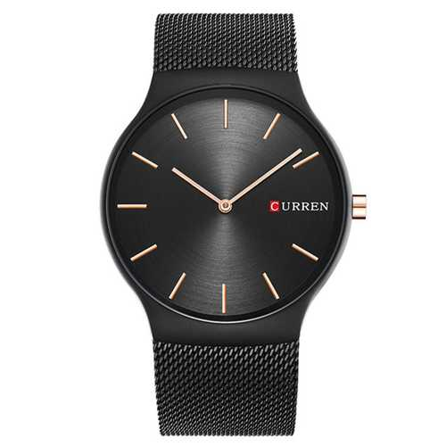 CURREN 8256 Simple Business Steel Strap Men Quartz Watch