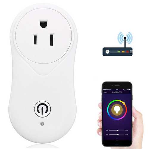 WIFI Mobile Phone Remote Control Smart Timer Home Socket EU US Plug Switch AC110-240V