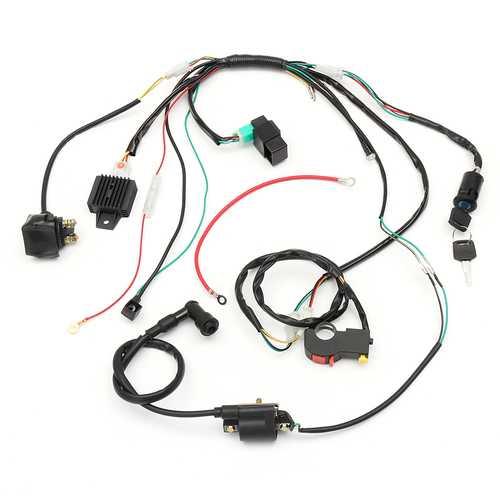 Wiring Harness Loom Solenoid Coil Rectifier CDI For 50cc 70cc 90cc 110cc 125cc ATV Quad Dirt Bike