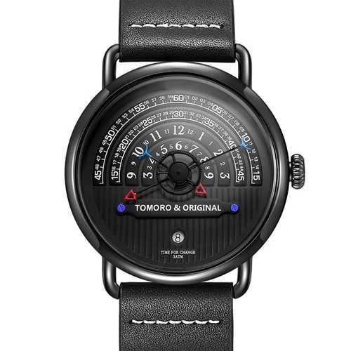 TOMORO Fashion Creative Tactical Unique Hour Reading Designer Men Watch Casual Male Quartz Watch