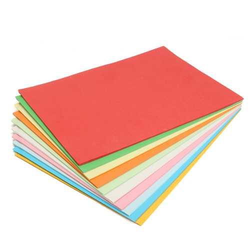 100Pcs A4 Multicolor Card Cardboard Paper DIY Craft Handicraft