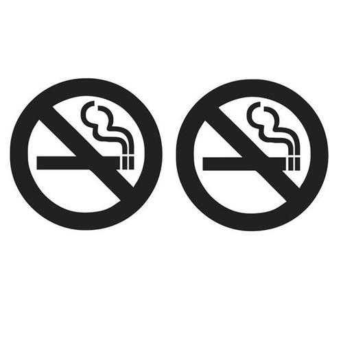 22x10cm No Smoking Reflective Car Stickers Auto Truck Vehicle Motorcycle Decal