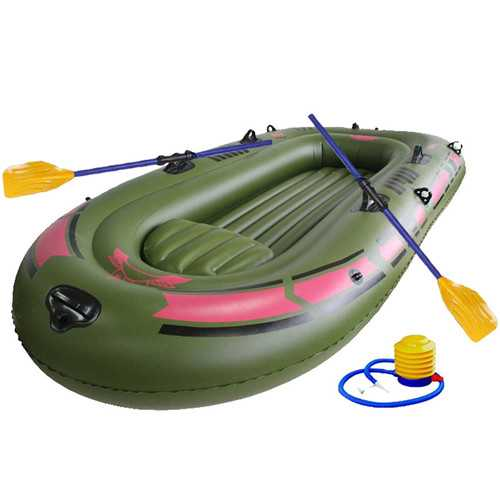 IPRee™  150X90CM 1Person PVC Rubber Boat For River Stream Lake Fishing Inflatable Boat
