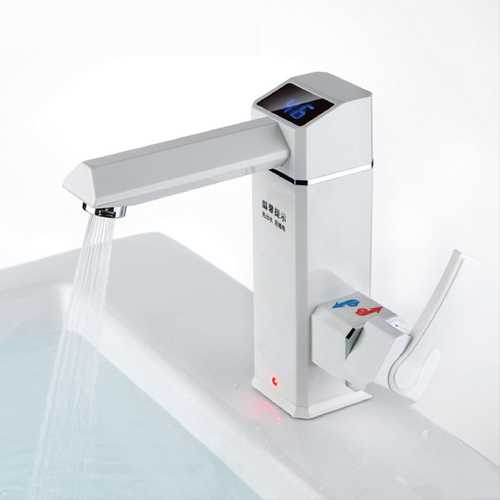 2500W Bathroom Kitchen Instant LED Display Electric Water Heater Hot Water Tap Electric Water Faucet Tankless