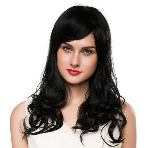 Long Curly Human Hair Wig Capless Virgin Remy Mono Top Blonde Auburn Brown