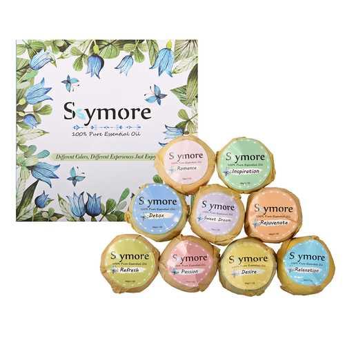 Skymore 9pcs Bath Bombs Gift Set Essential Oil Kit Gift