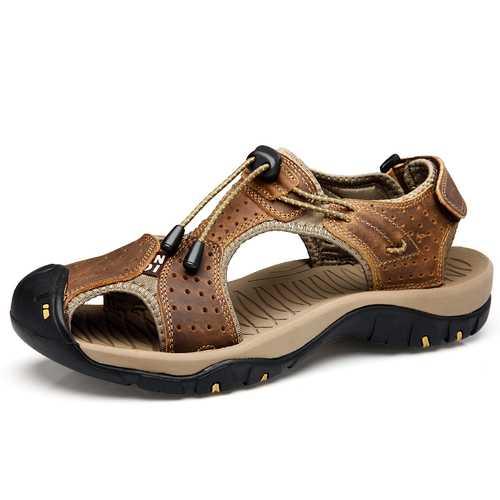 Men Breathable Comfy Wear Resistance Sole Hook Loop Sandals