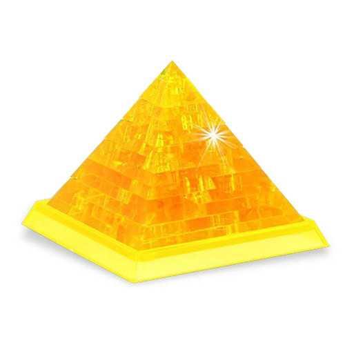 Novelty IQ Crystal Blocks Jigsaw Puzzles Toy 3D Pyramid DIY Model Gift