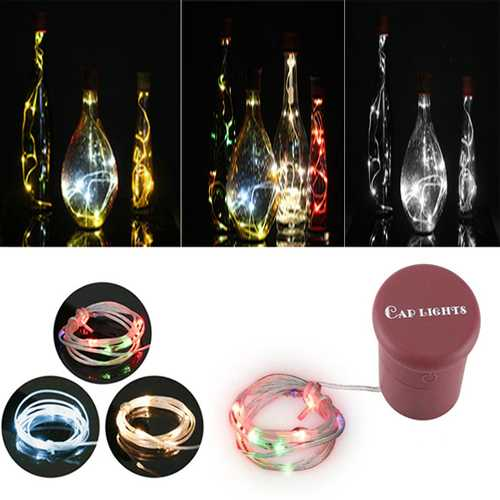 1M 2W 10LEDs 3 Modes RGB Warm White Pure White Wine Bottle String Light For Party