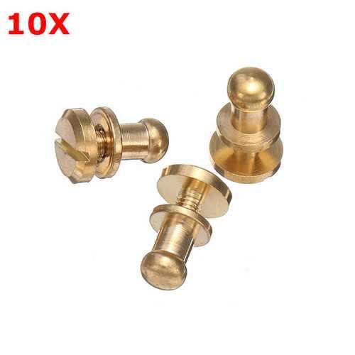 10Pcs Brass Monk Head Nipple Nail Belt Screw Belt Luggage Accessories