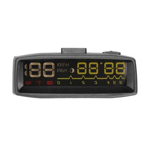 4F HUD Car Head Up Display OBDII KM/h MPH Overspeed Warning Wind Shield Projector Alarm System