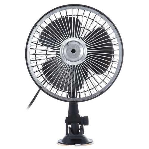 6 Inch Black 12V 24V Mini Car Air Fan Adsorption Ventilation Cooling Portable Fan