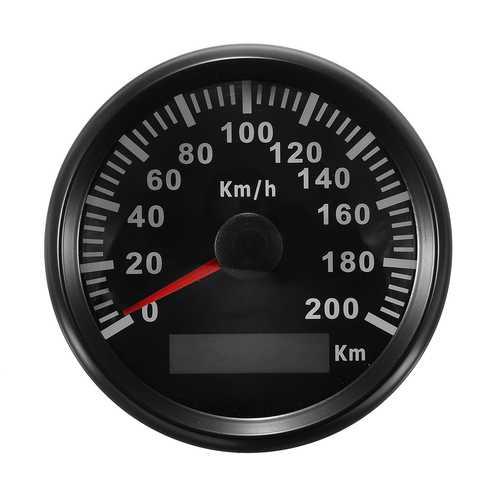 85mm 200 KM/H Stainless GPS Speedometer Waterproof Digital Gauges Car Motorcucle