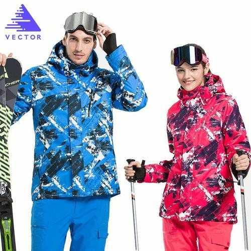 VECTOR Skiing Jackets Waterproof Warm Winter Snow Sportswear Women & Men Snowboarding
