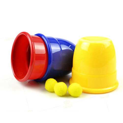 Funny Trick Props Three Magic Cups Toys For Kids Children Gift
