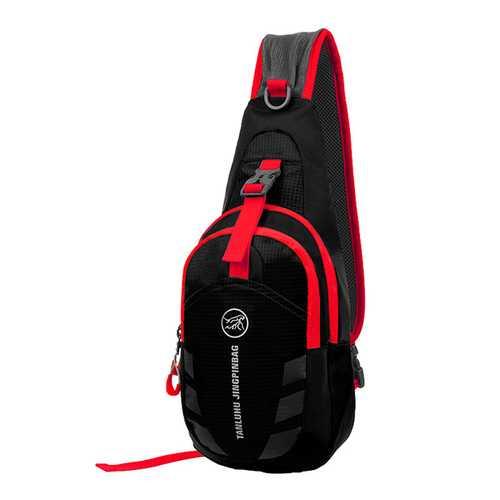 Women Men Nylon Sport Casual Crossbody Bag Small Sling Bag Chest Pack