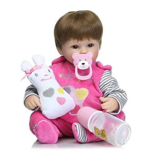 18' Realistic Handmade Baby Dolls Girl Newborn Lifelike Vinyl Alive Reborn Baby Doll Handmade Toys