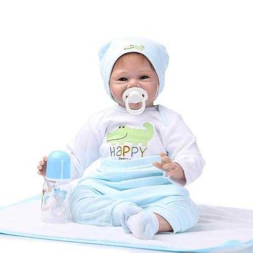 22'' Lifelike Baby Boy Girl Silicone Handmade Vinyl Reborn Newborn Dolls Clothes
