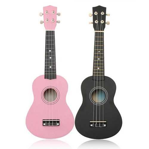 21 Inch Basswood Soprano Ukulele Hawaiian Guitar 12 Frets