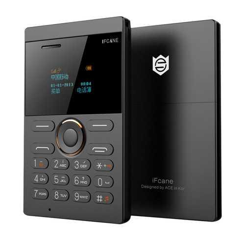 iFcane E1 0.96-inch 320mAh Long Standby Vibration Bluetooth GSM Ultra Thin Mini Card Phone