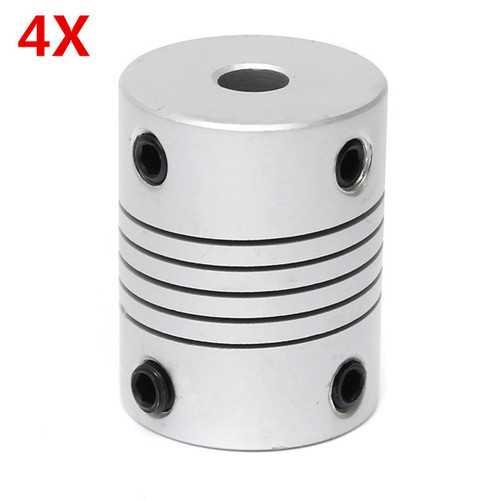 4Pcs 5mm x 8mm Aluminum Flexible Shaft Coupling OD19mm x L25mm CNC Stepper Motor Coupler Connector