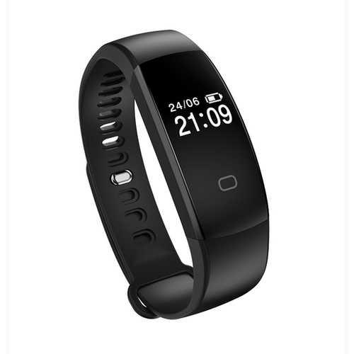 F08HR OLED Heart Rate Health Monitor Smart Watch Bracelet Pedometer IP67 Waterproof