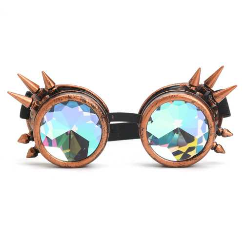 3 Colors Festivals Rave Kaleidoscope Goggles Rainbow Glasses Prism Diffraction Crystal