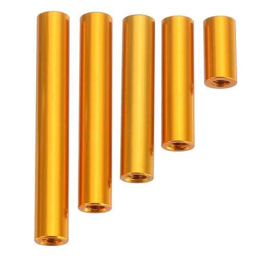 Suleve™ M3AR6 M3 Aluminum Alloy Standoff Studs 10-35mm Gold Round PCB Board Spacers Standoffs 10pcs