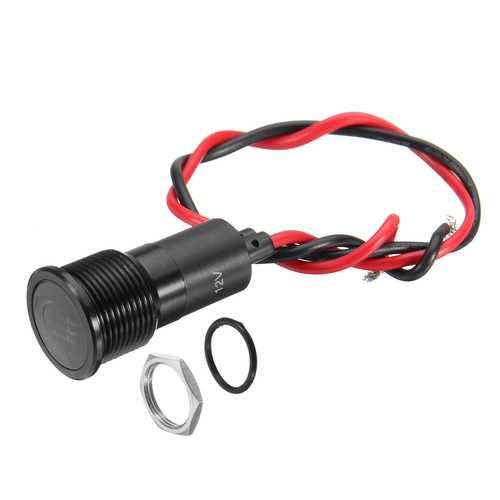 12V 16mm Metal LED Dash Panel Warning Pilot Light Indicator Lamp Boat