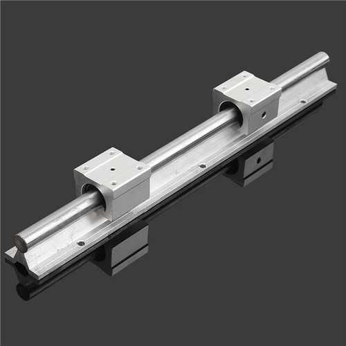 SBR16 400mm Support Linear Rail Optical Axis Guide with 2pcs SBR16UU Bearing Blocks
