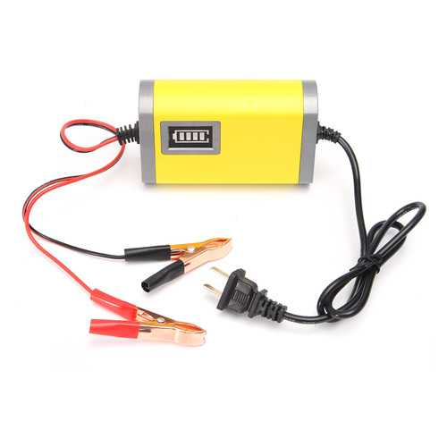 12V 2A Car Motorcycle Smart Automatic Battery Charger Yellow Color