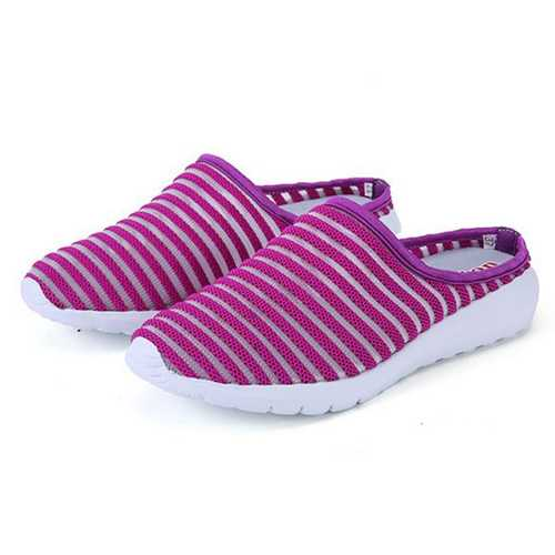 Women Mesh Breathable Casual Hollow Out Summer Slipper Sandals
